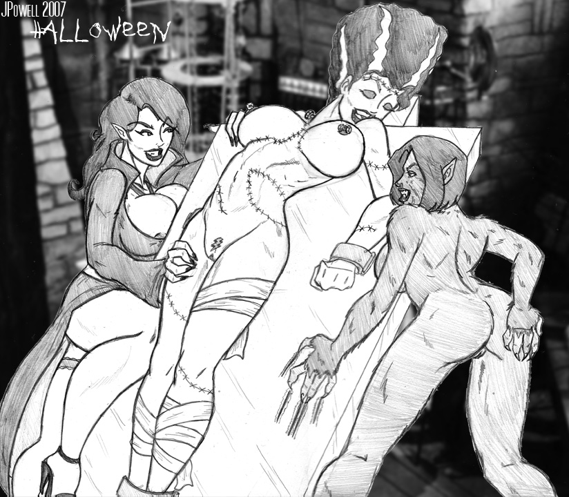 frankenstein of bride Five nights at anime chica