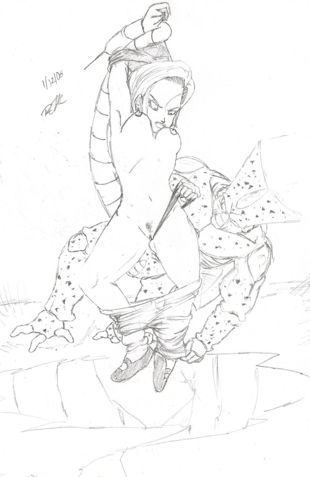cell (dragon ball) Koukou kyuuji zawa-san