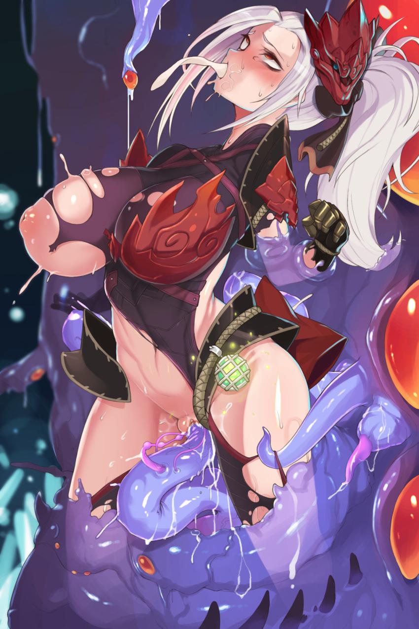 world female odogaron armor hunter monster Reikenzan hoshikuzu-tachi no utage