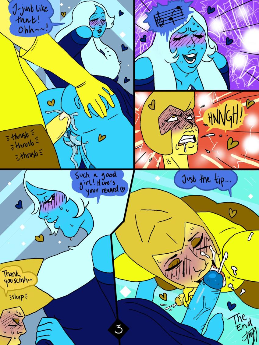 diamond x steven universe yellow diamond blue Yugioh gx jaden and yubel