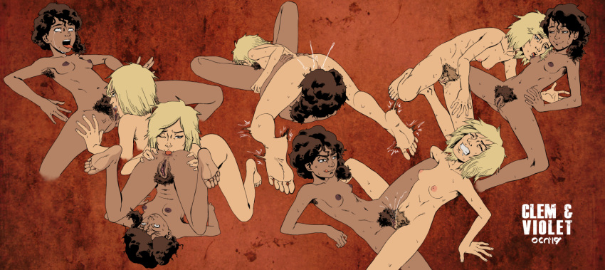 the dead walking clementine naked Bucky and pronk oryx-antlerson
