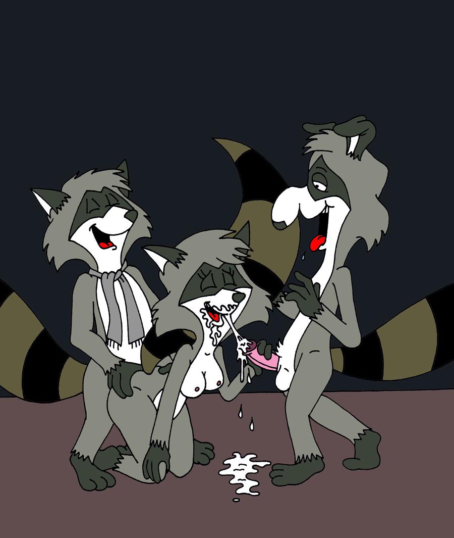 raccoon sex gay rocket the Yar har fiddle dee dee gif