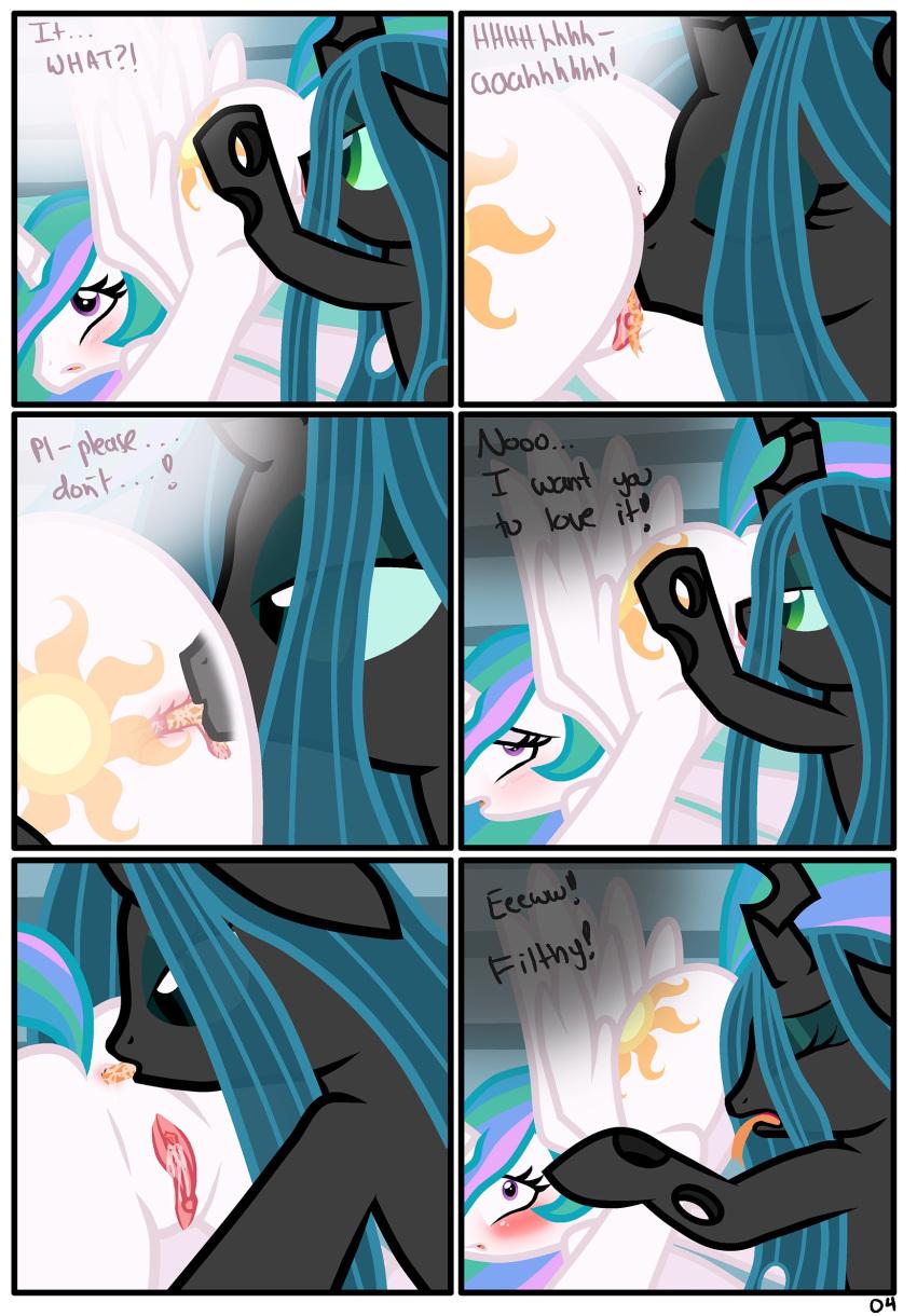 my queen pony from little chrysalis Monster vs aliens